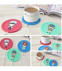 cute usb powered cup mug electric warmer coffee tea drink heater pad beverage