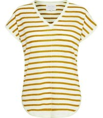 part two 30304353 t-shirt signe stripe geel/off white
