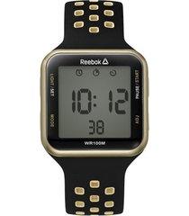 reloj negro reebok square element digital