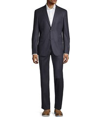 modern-fit micro-check wool suit