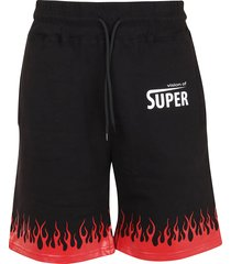 vision of super flames red shorts