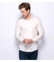 camisa social teodoro work 100 % algodão 50 fios masculina