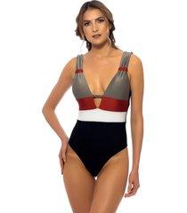 body kalini beachwear trie maite cinza