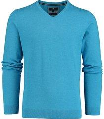 basefield pullover lichtblauw v-hals 219014478/601