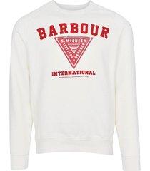 barbour sweater wit met opdruk