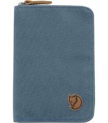 billetera porta pasaporte azul fjall raven
