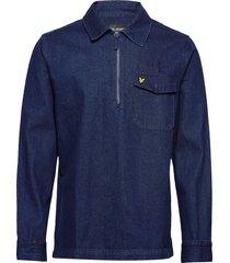 indigo ls shirt skjorta casual blå lyle & scott