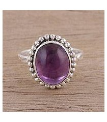 amethyst cocktail ring, 'serene dream' (india)