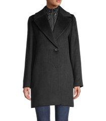 cinzia rocca women's solid-color coat & removable bib - black - size 4