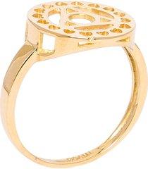 anel feminino chacra azul vishuddha em ouro