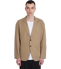 attachment blazer in beige cotton