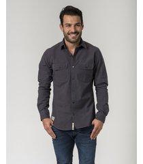 camisa gris brooksfield belucci