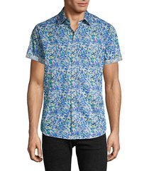 classic-fit printed short-sleeve shirt