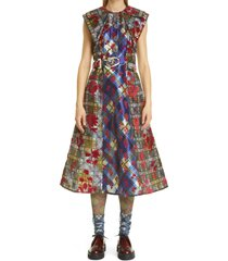 women's chopova lowena double layer a-line midi dress, size small - blue