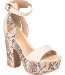 sandalia adele natural snake we love shoes
