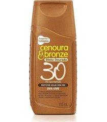 cenoura & bronze protetor solar efeito dourado fps30 110ml