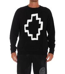 marcelo burlon tempera cross sweatshirt