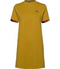hi roller tri check dress kort klänning gul vans