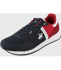 tenis azul navy-rojo beverly hills polo club
