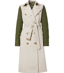 burberry detachable warmer sleeveless trench coat - neutrals