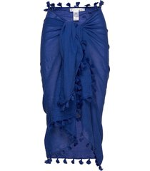 cotton gauze sarong beach wear blå seafolly