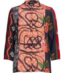 cam jenica blouse lange mouwen multi/patroon desigual