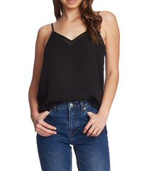 1.state chiffon inset tank, size x-large in rich black at nordstrom