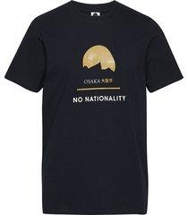 mauro print tee 3357 t-shirts short-sleeved blå nn07