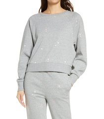 women's honeydew intimates over the moon sweatshirt, size x-large - grey
