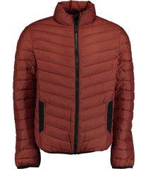 bos bright blue tony short puff jacket 21101to02sb/861 rust