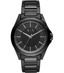 ax armani exchange men's drexler black stainless steel bracelet watch 44mm
