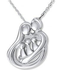 collar familia unida 3 hijos casual plata arany joyas