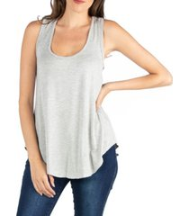 24seven comfort apparel scoop neck razorback sleeveless tunic top
