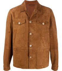 altea panelled suede jacket - brown