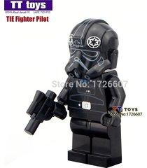 1 pcs tie fighter pilot minifigure building blocks bricks toys