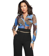 camisa marciano penelope mesh multicolor guess