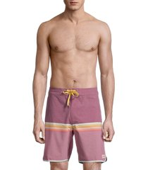 rip curl men's mirage surf revival striped boardshorts - faded red - size 34