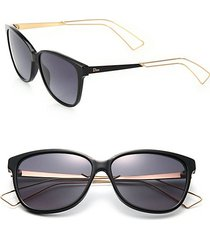 'confident 2' 57mm square sunglasses
