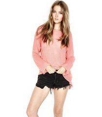gideon pullover sweater w/ tail - m/l pink