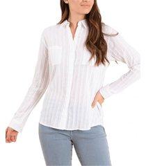 blusa algodón orgánico dalia blanco rockford