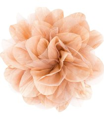 caffe' d'orzo floral tulle brooch - neutrals