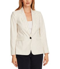 vince camuto striped fringed-trim blazer
