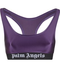 palm angels classic logo sports bra