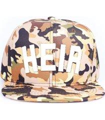 boné heir snapback camouflage bege