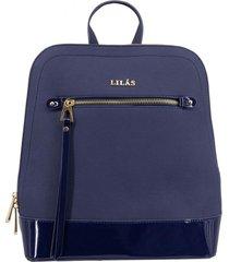 mochila francesca azul oscuro lilás carteras