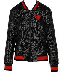 maje women's sequin-embellished jacket - black - size 1 (s)