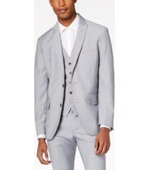 inc men's slim-fit gray suit jacket, created for macy's