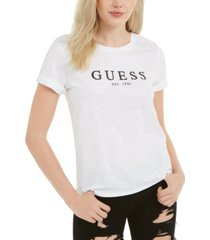 guess 1981 rolled cuffed logo t-shirt