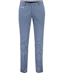 pantalon portofino flatfront slim fit blauw