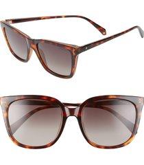 women's polaroid 56mm polarized rectangular sunglasses -